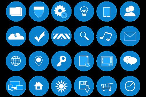 icons web development website design