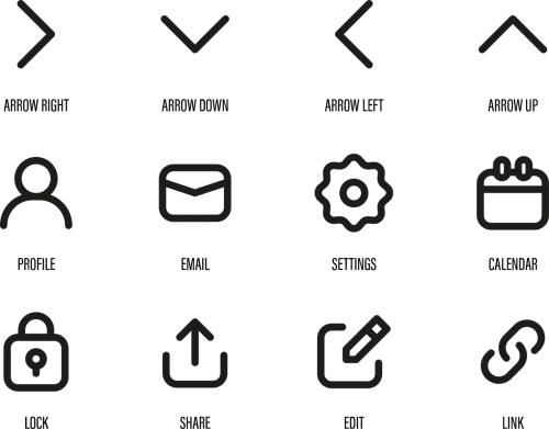 icons web symbols