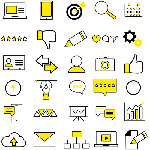 icons  yellow icon  business