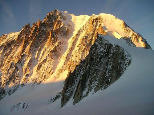icy channel chamonix mont blanc du tacul