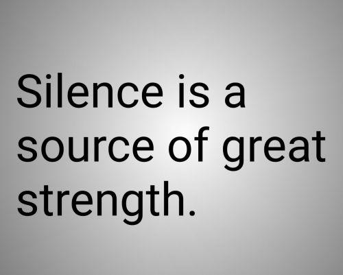 Idiom On Silence