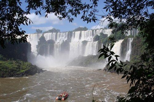 iguassu  brazil  waterfall