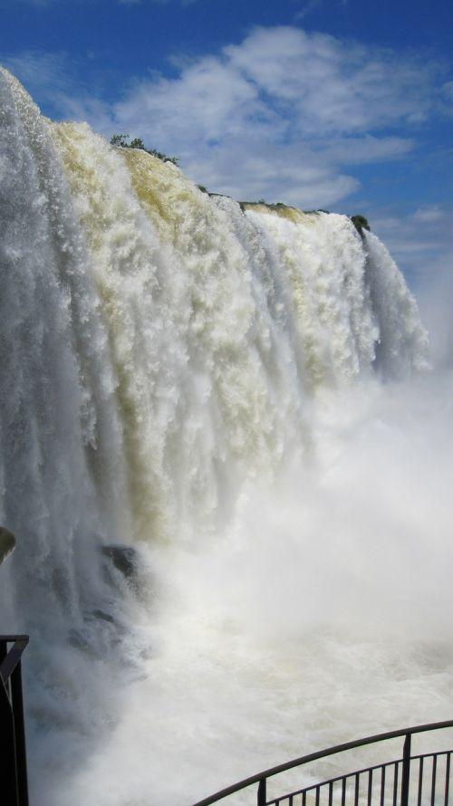 iguazu waterfall water wall