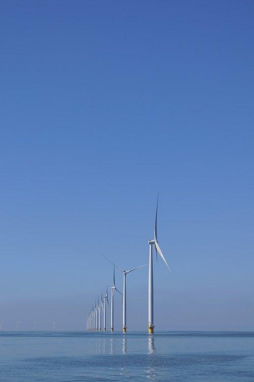 ijsselmeer  water  windmills