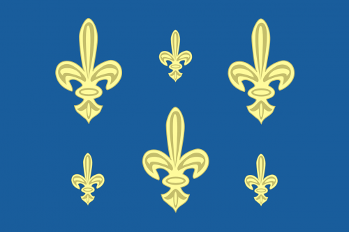 ile de france,flag,french,region,historic,free vector graphics
