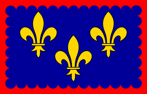 ile-de-france flag kingdom of france