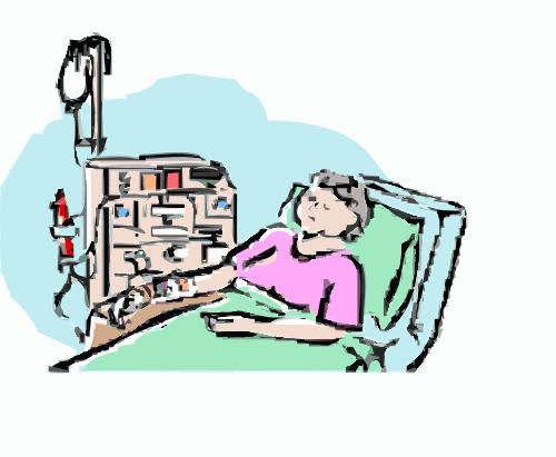 illness hospital bed