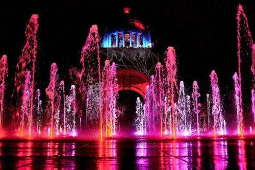 illuminated travel city
