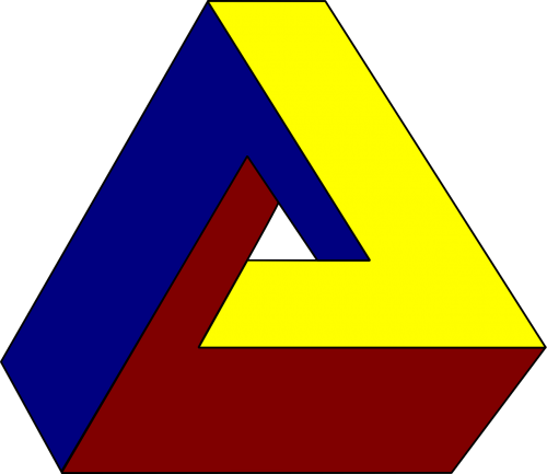 illusion optical illusion triangle