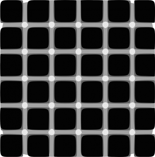 illusion points black and white