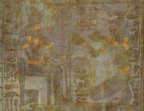 Illustration Egypt Gold Green