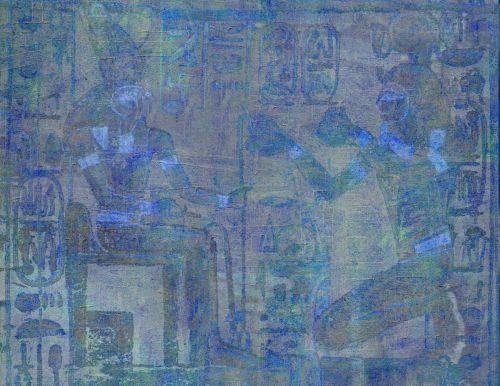 Illustration Blue Egypt