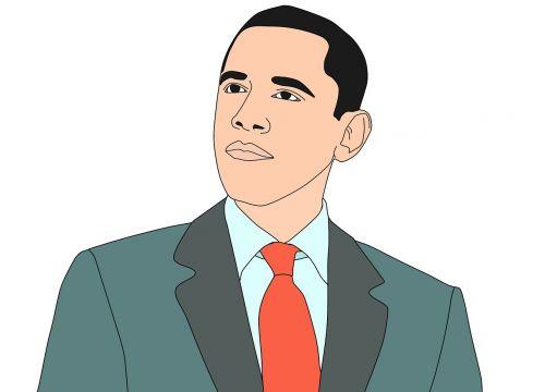 illustration barak obama president