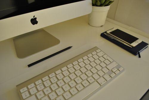 imac desk white