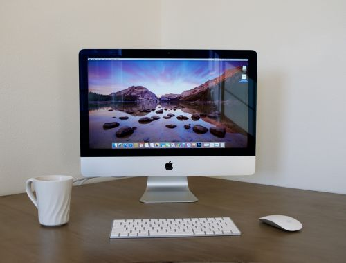 imac desktop computer home office