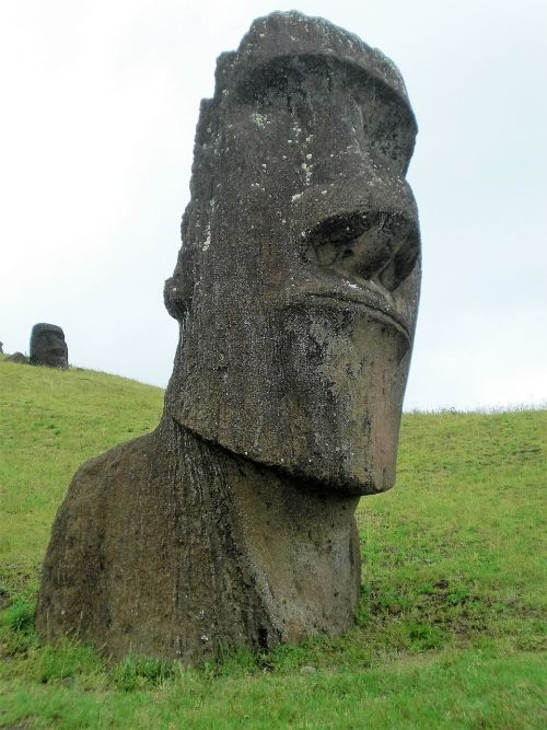 image easter island man
