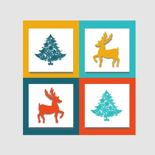 image,christmas tree,christmas,reindeer,square,structure,color,modern,icon,symbol,concept,clarity,regulation,design,pattern,plan,idea,element,schema,graph