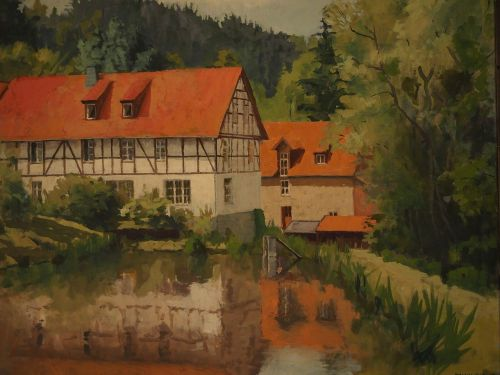 image painting bear mill