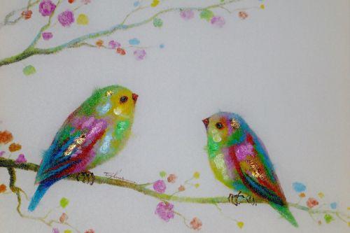 image painting birds