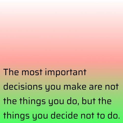 Important Decisions 2