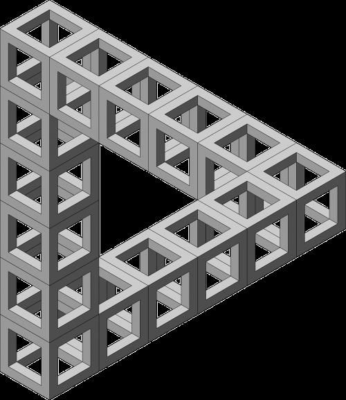 impossible optical illusion triangle