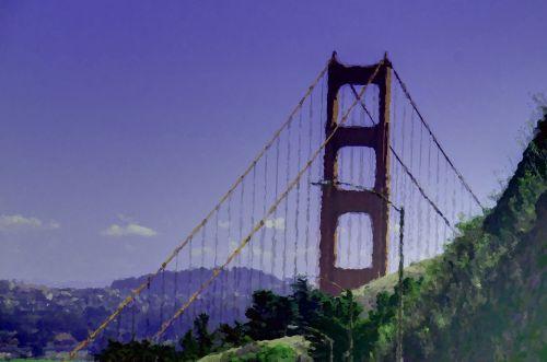 Impressionist Golden Gate Bridge