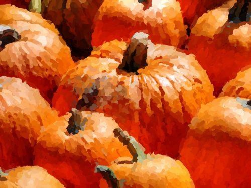 Impressionist Pumpkins