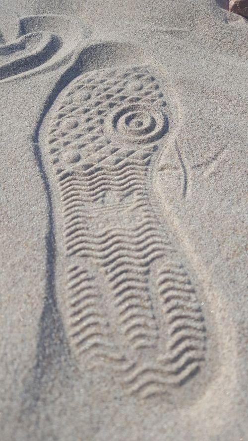 imprint already sand