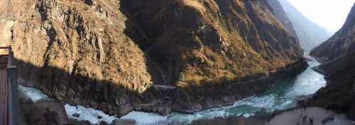 in yunnan province the scenery tiger leaping gorge