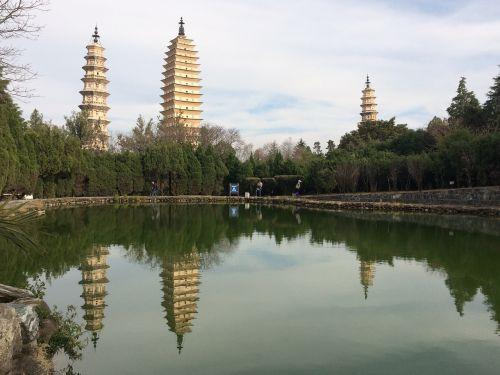 in yunnan province three pagodas views