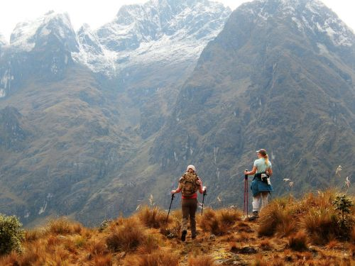 inca trail hiking panorama