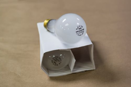 incandescent glass bulb