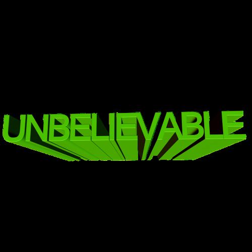 inconceivable font 3d
