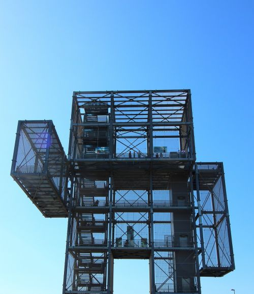 indemann observation tower open pit mining