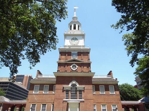 independence hall  philadelphia  historic