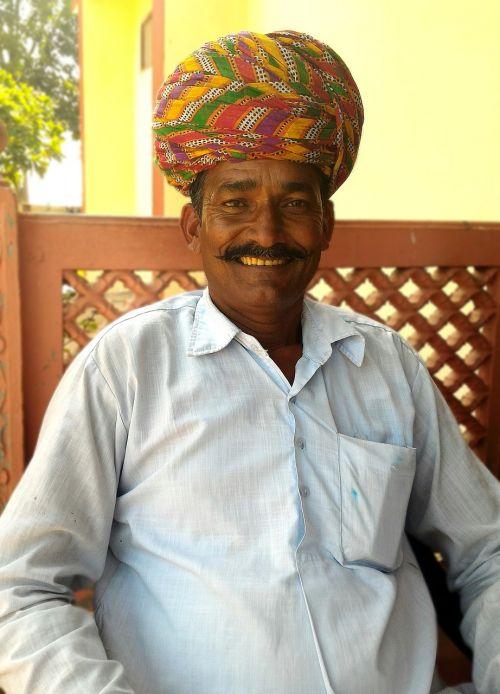 india turban moustache