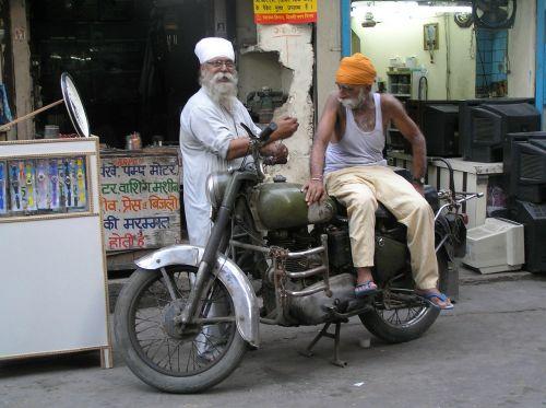 india delhi man on motcycle