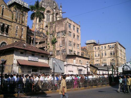 Indija,Mumbajus,bombėjaus,minios,žmogus,daug