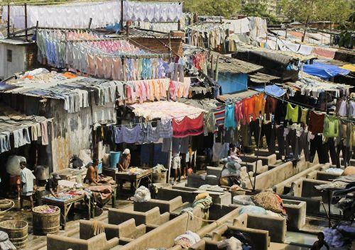 Indija,bombėjaus,skalbiniai,plauti,Mumbajus,darbo sąlygos
