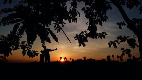 india  sunset  evening