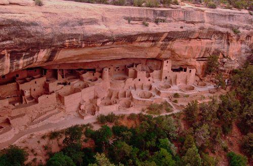 indian pueblo cliff