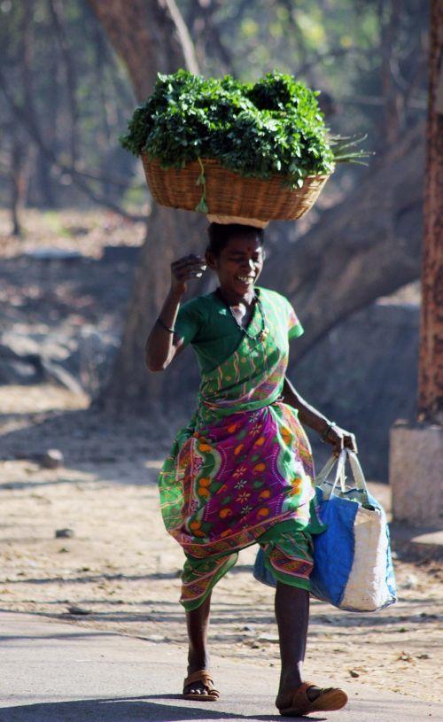 indian vegetables seller