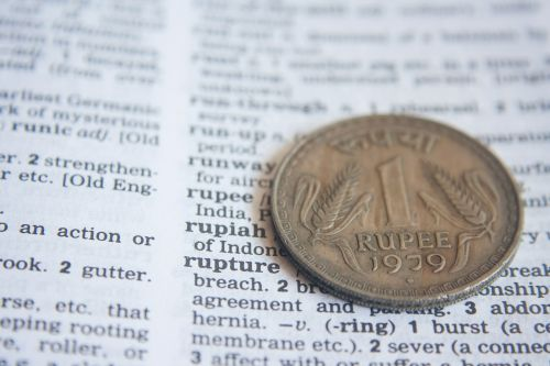 indian rupee dictionary