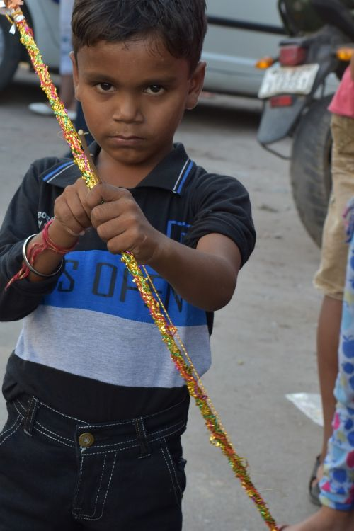 indian boy serious and innocent look child