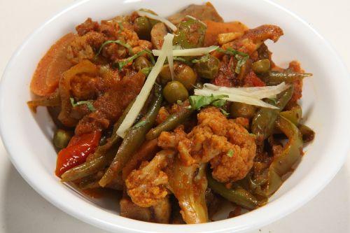 indian food mix vegetables cuisine