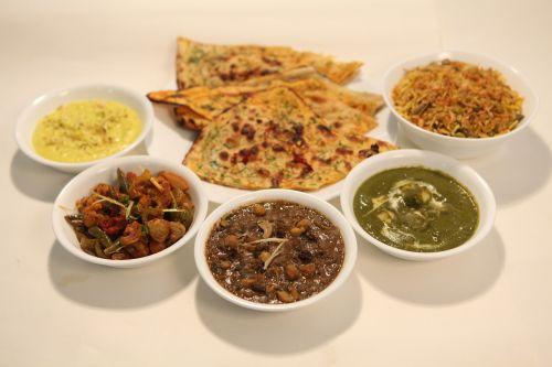 indian food thali vegetarian food