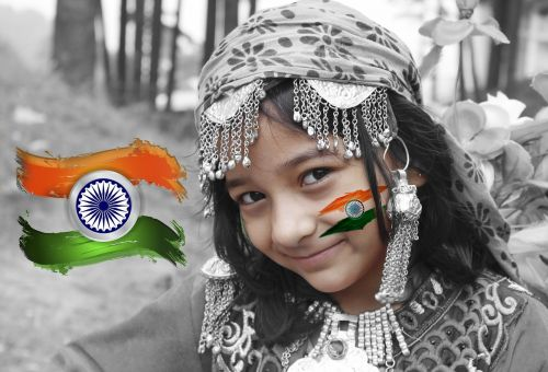 indian independence day independence celebration cute girl
