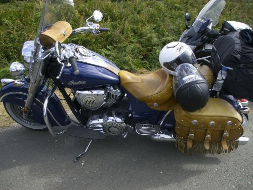 indian motorcycle moto parked