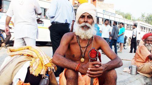 sadhu indian street india