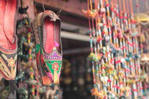 indian traditional foot wear colorful